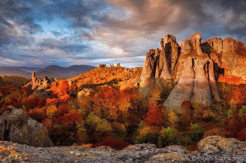 Autumn morning near rocksphoto preview
