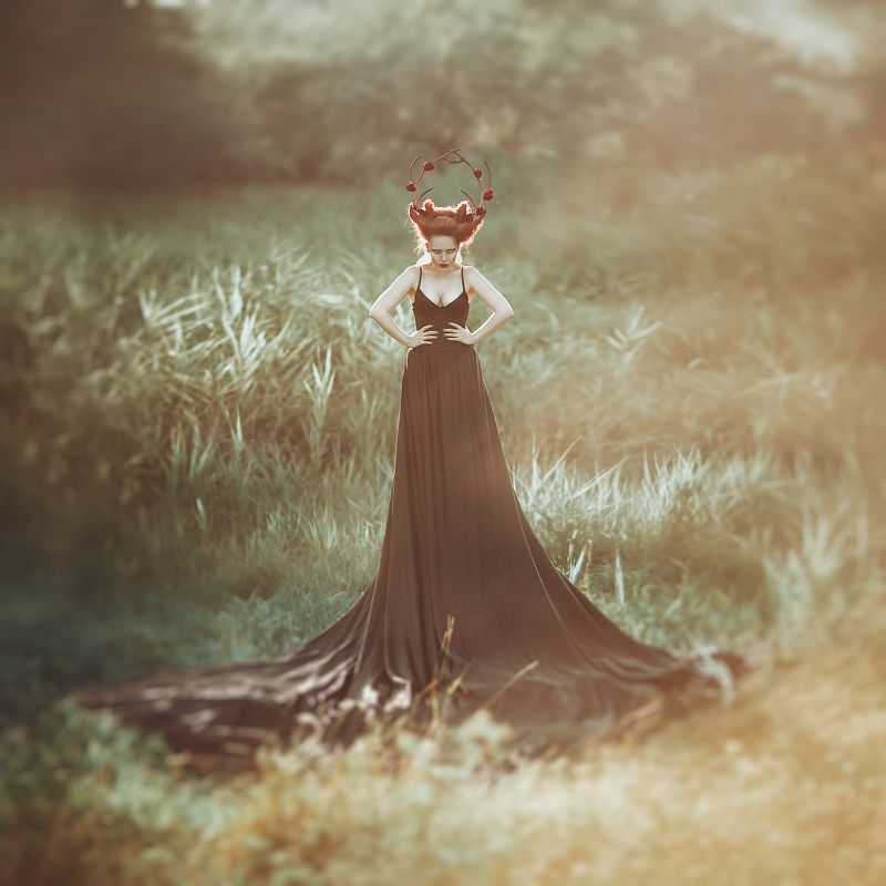 art, photo, collage, okeyteam, kate_troyan, girl, portrait The Deerphoto preview