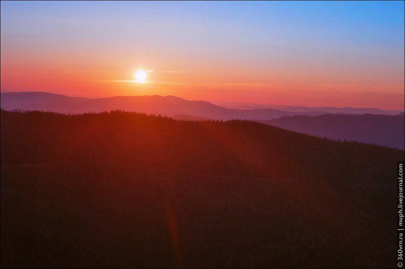адыгея, хребет, пейзаж, рассвет Рассвет над Инженерным хребтомphoto preview