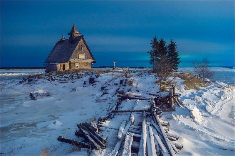 Классический пейзаж из Рабочеостровска. Только ночью.photo preview