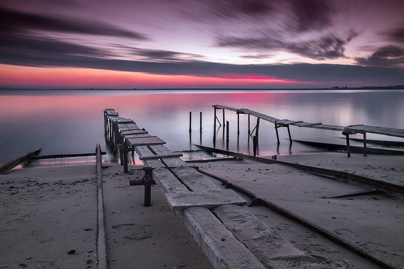 bay, beach, beautiful, black sea, bulgaria, clouds, coast, coastline, fishing pier, landscape, long exposure, nature, nessebar, ocean, outdoors, pier, quay, ravda, sea, seascape, seaside, sky, summer, sun, sunrise, sunset, sunshine, surface, water, waves Sunset at the Black Sea coastphoto preview