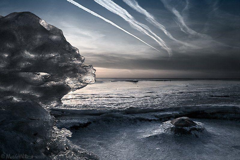 winter, ice, landscape, nature, sunset, sky, cold, frost, sea, зима, лёд, мороз, пейзаж, природа, закат, небо Planet Winterphoto preview