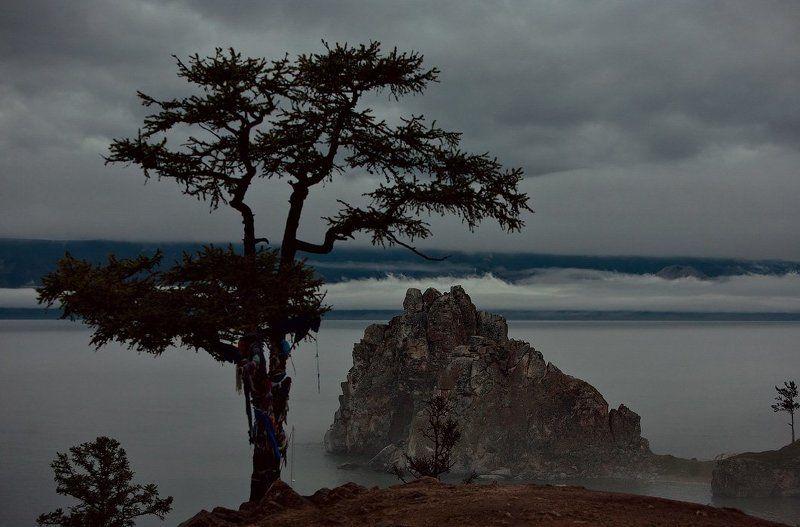 байкал, ольхон Вечерний туманphoto preview