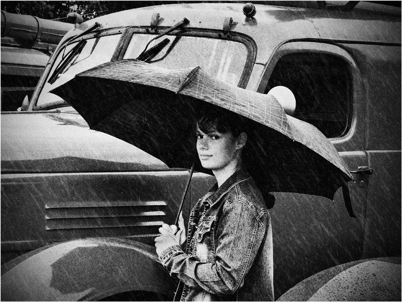 девушка, незнакомка, дождь, москва, осень, грусть А в сердце дождь или солнце?photo preview