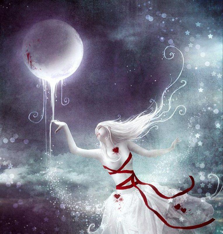 луна, сон, небо, облака, полет, звезды, пыль dreamphoto preview