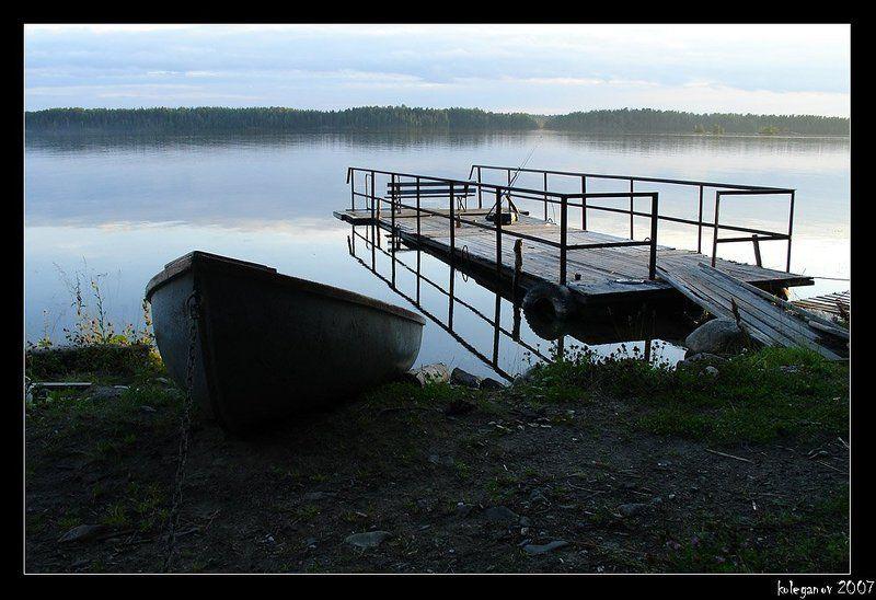 карелия, кончеозеро Лодка и Мостикphoto preview
