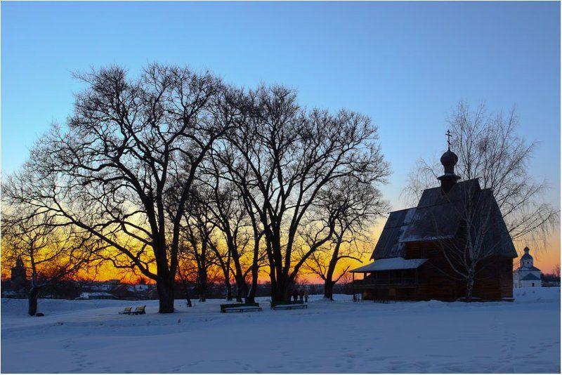закат,зима Суздальphoto preview