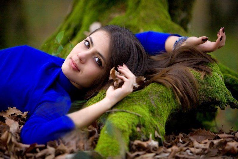 девушка, модель, сочи, синее Touch of Naturephoto preview