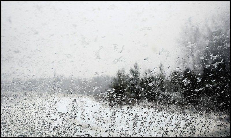 снегопад, стекло +1photo preview