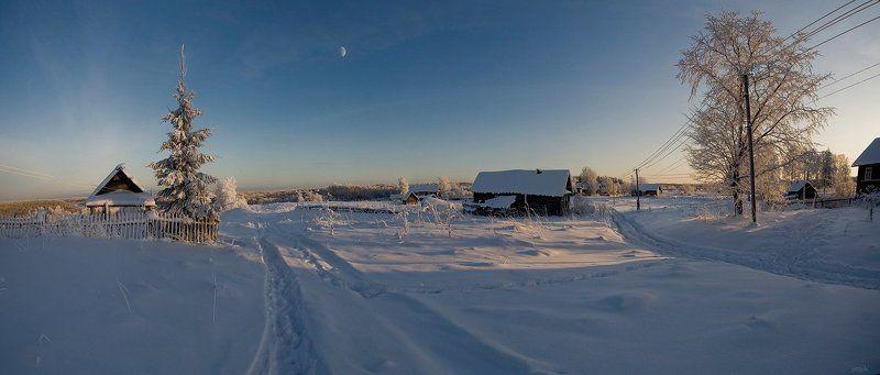 зимняя, сказка Вечерело...photo preview
