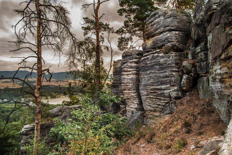 Чехия Праховы скалы Перед грозойphoto preview