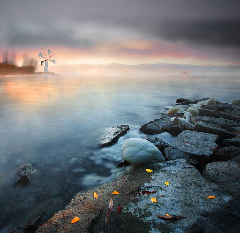 Landscape, Mood, Water, Winter Where The Wind Blowsphoto preview
