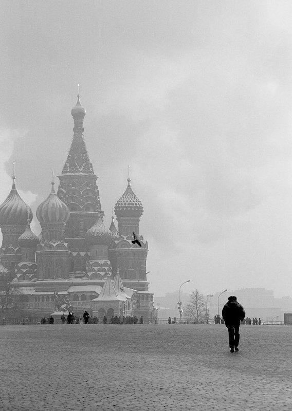площадь, красная, мороз, храм, люди Главная площадь.photo preview