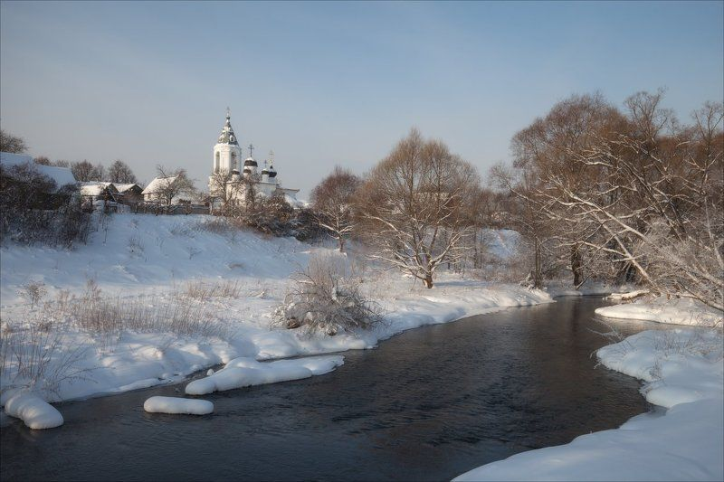 зима, природа, церковь У снежных береговphoto preview