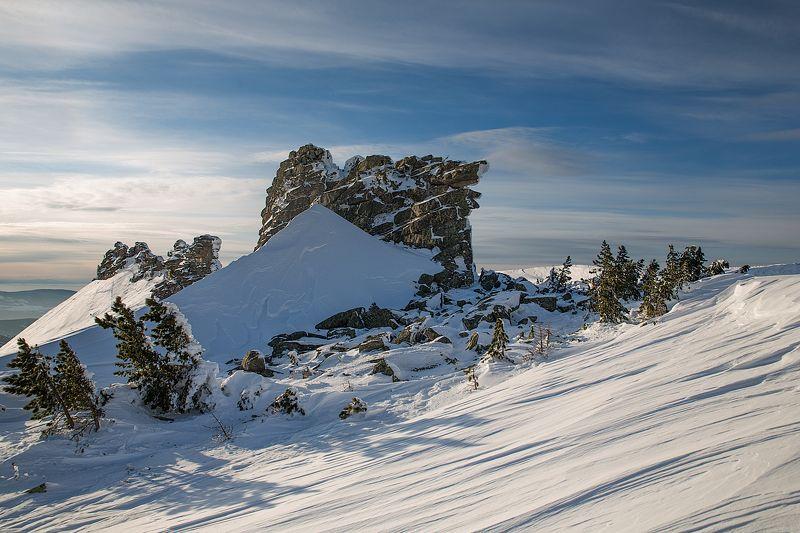 2016, Горы, Зима, Рассвет, Шерегеш, Шория photo preview