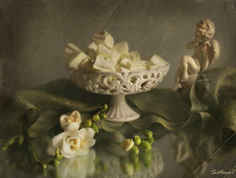 Ангел, Ваза, Зефир, Натюрморт, Фотонатюрморт, Цветок Сластёнаphoto preview