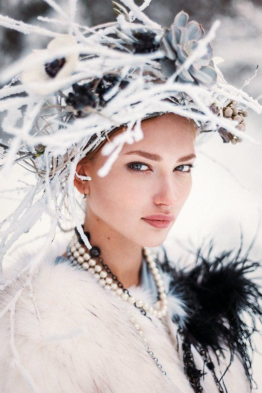 Белое, Зима, Портрет девушки ***photo preview