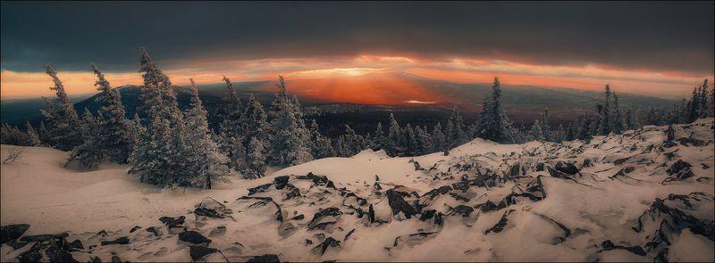 Уреньга, последний зимний закатphoto preview