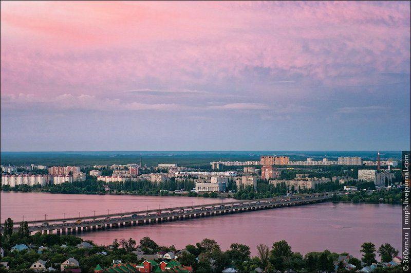 мост, закат, воронеж Розовыйphoto preview