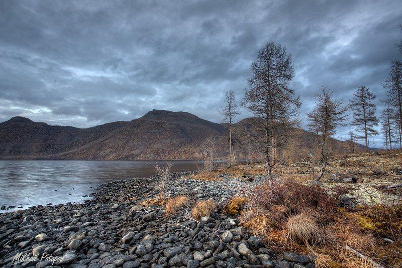 Дикая природа, Закат в горах, Листопад, Озеро, Оймякон, Осенний вечер, Якутия Закат на оз.Улууphoto preview