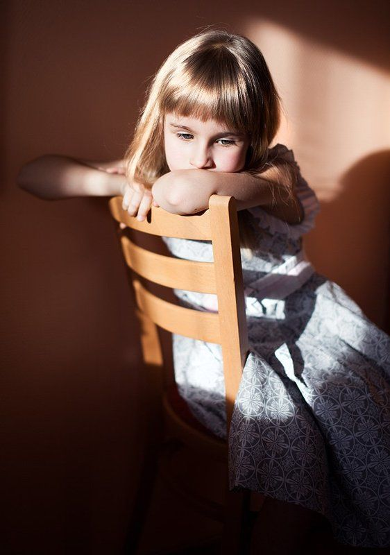 girl, chair photo preview