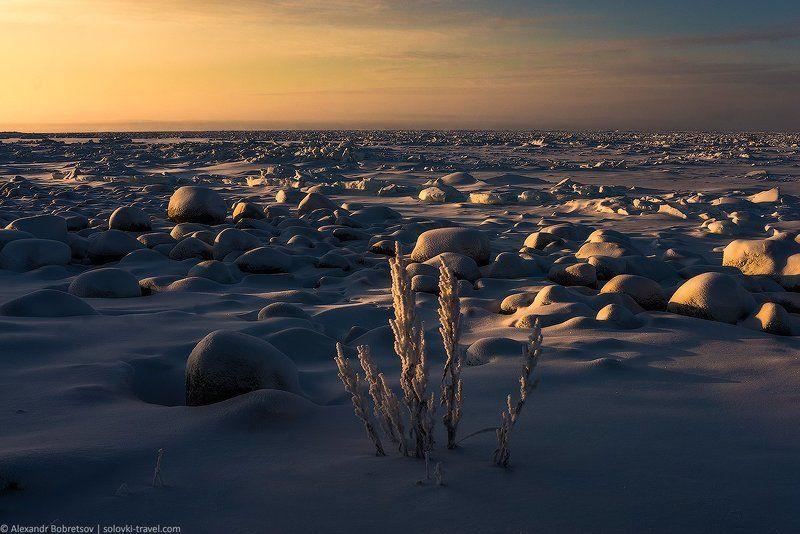 Белое, Зима, Море, Остров, Север, Соловки ***photo preview