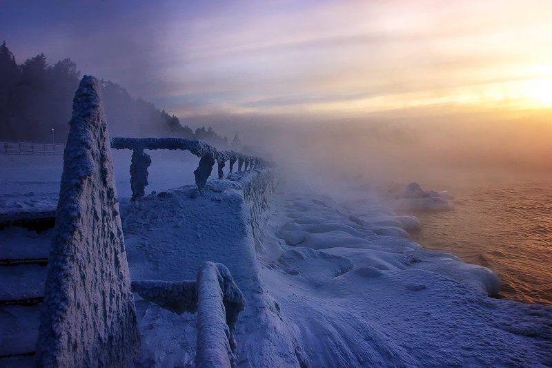 Байкал Ангара И вязь морозная что под закатphoto preview