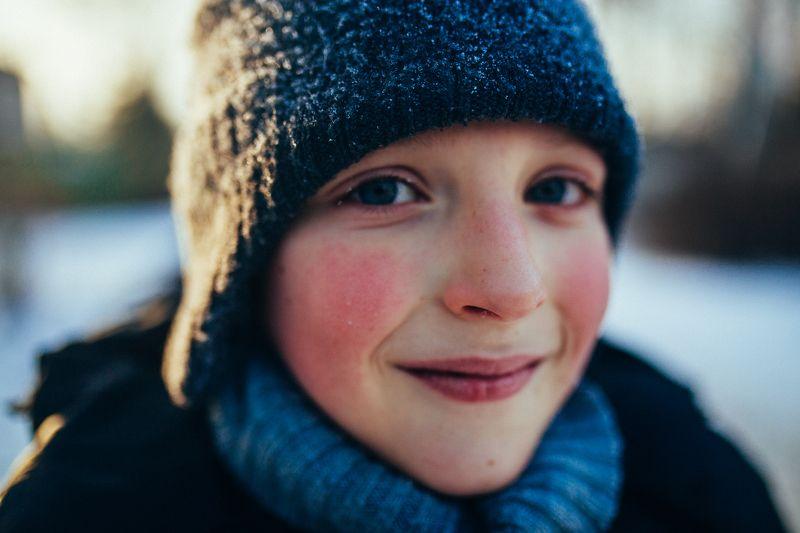 мальчик зима портрет Зимний портретphoto preview