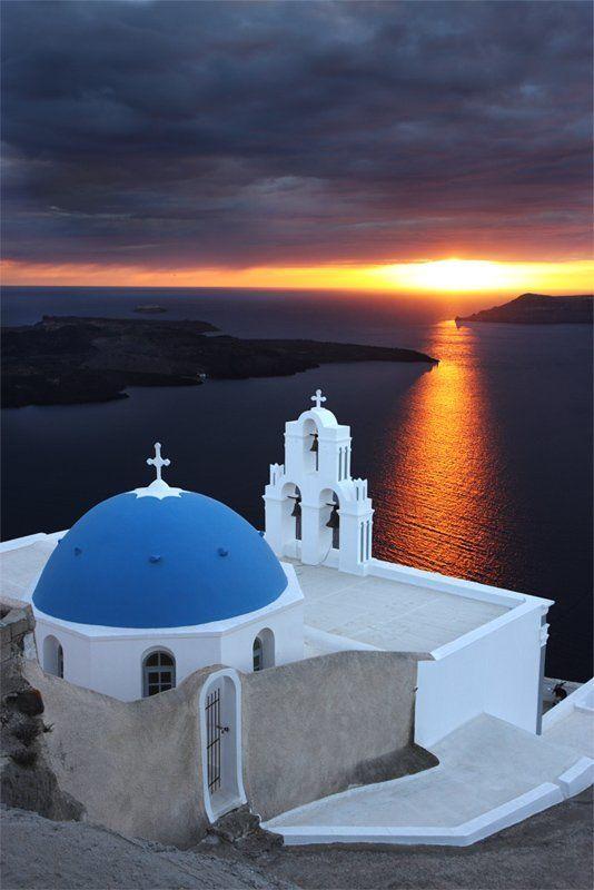 santorini, greece photo preview