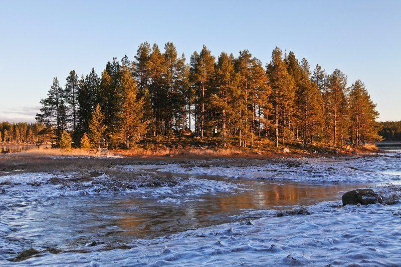Белое море, Море, Нильмогуба, Осень Беломорье. Осень.photo preview