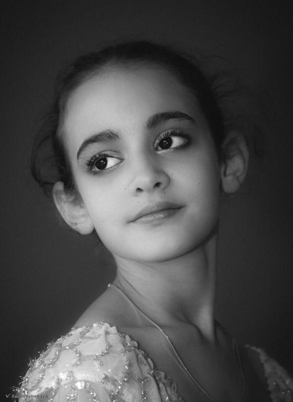 портрет, детский портрет, монохром ***photo preview