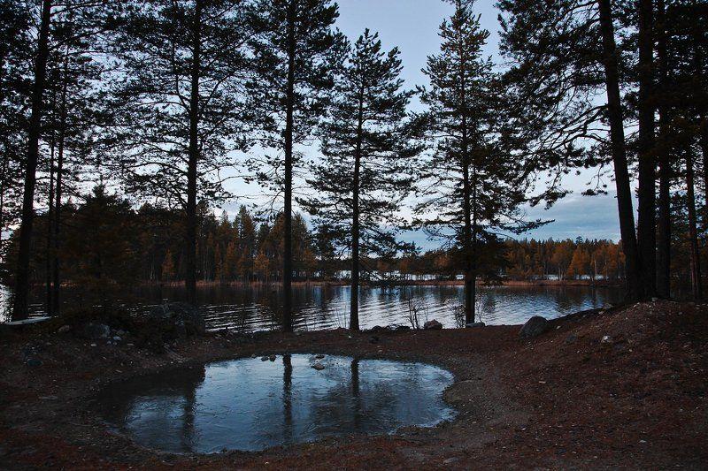 Карелия, Нильмогуба, Озера, Осень, Север Озера северной Карелииphoto preview