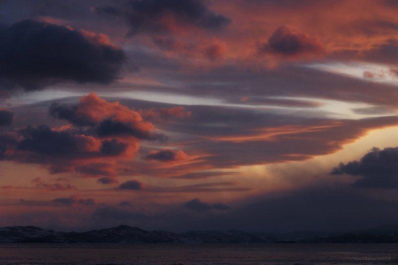 Байкал, Закат, Иркутск, Россия, Сибирь, Уюга Байкал.photo preview