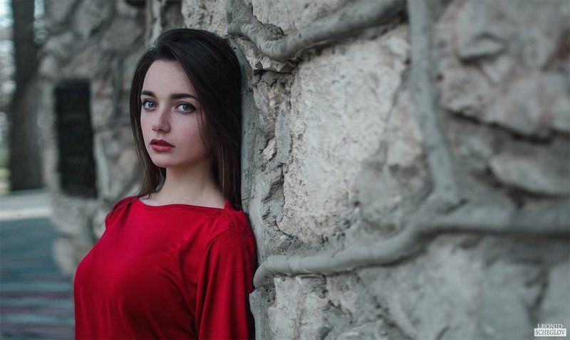 girl, red, portret, hair, beautiful Екатеринаphoto preview