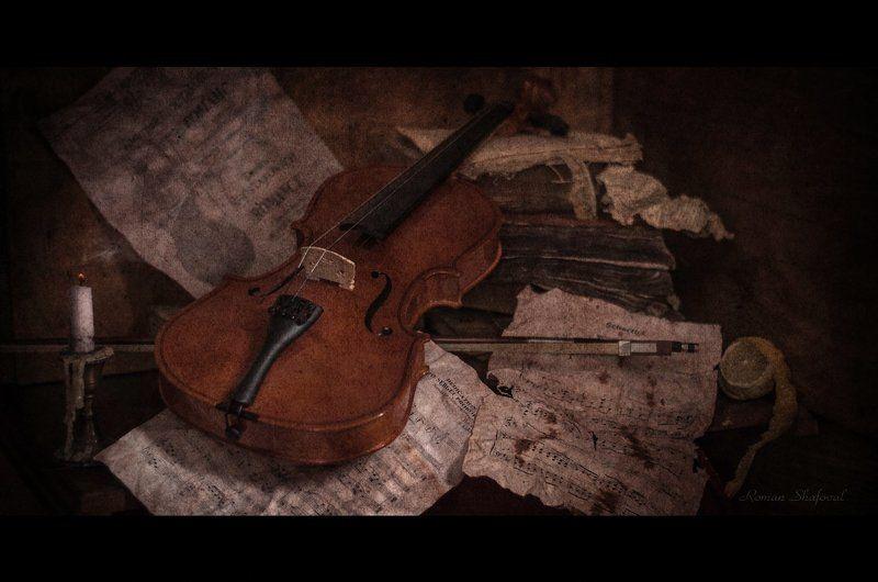 книга, натюрморт, роман шафовал, свеча, скрипка забытая мелодия для скрипки...photo preview