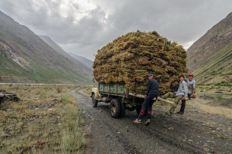 Таджикистан, Мастча, Горы, Зарафшан, Кортофельное поле Горная Мастча (Мастчои Кухистон)photo preview