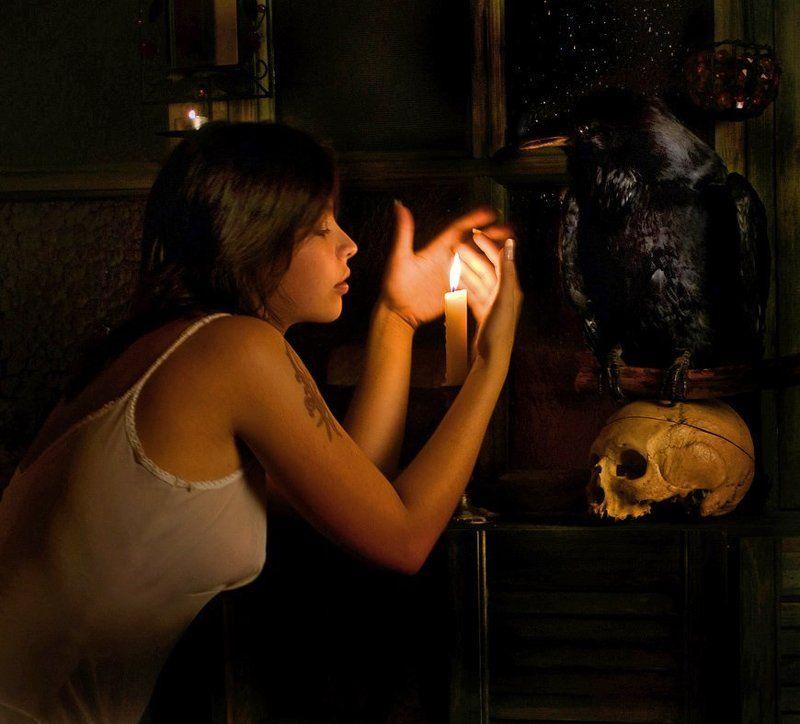 модель, -, соня Девушка, череп, воронphoto preview