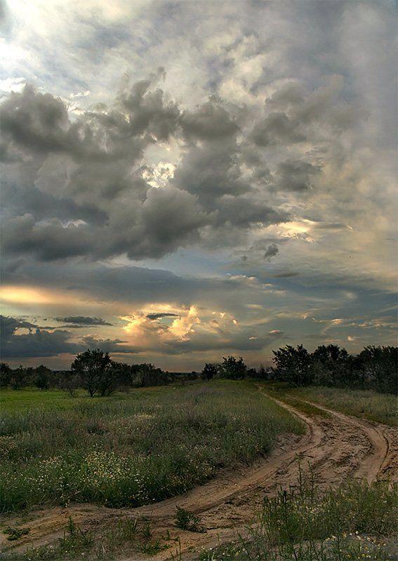 пейзаж, закат, степь, дон ***photo preview