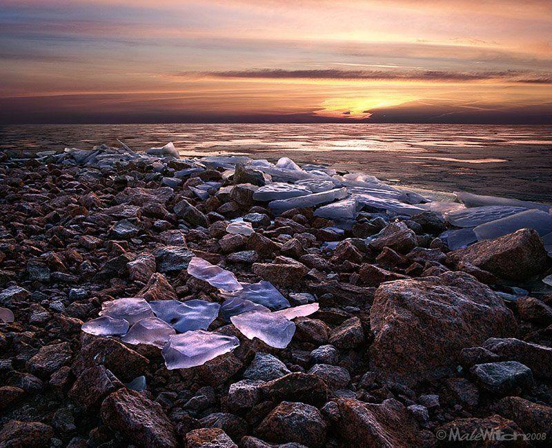 лёд, камень, пейзаж, зима, закат, природа, nature, landscape, ice, winter, sunset, stone Ice ,Fire &Stonephoto preview