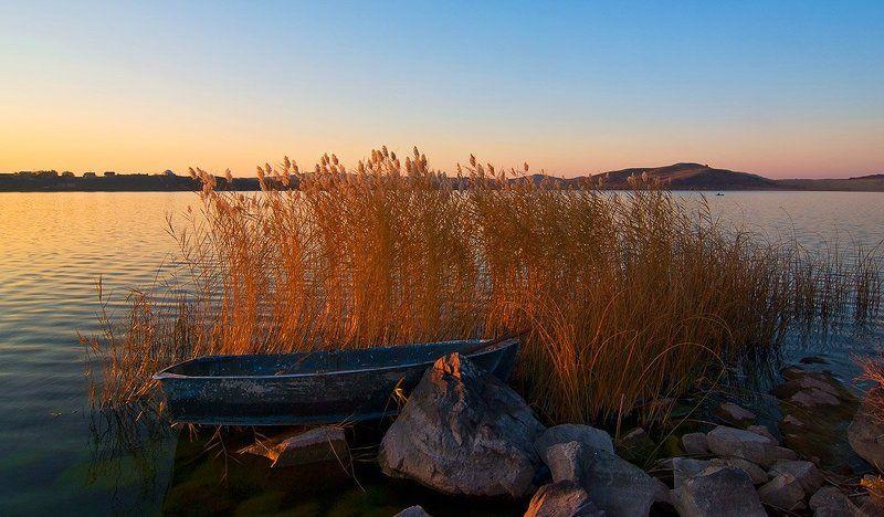 колывань, озеро белое, осень, алтай, джазатор Золотое Белоеphoto preview