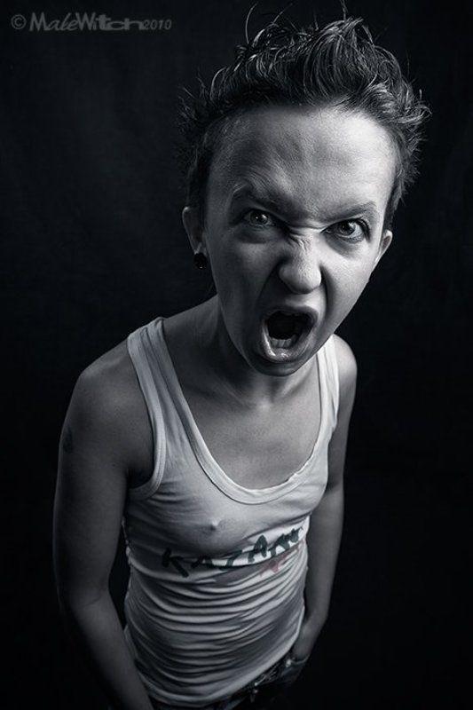 portrait, girl, grotesque, emotion, expression, девушка, портрет, эмоция, экспрессия, гротеск No!!!photo preview