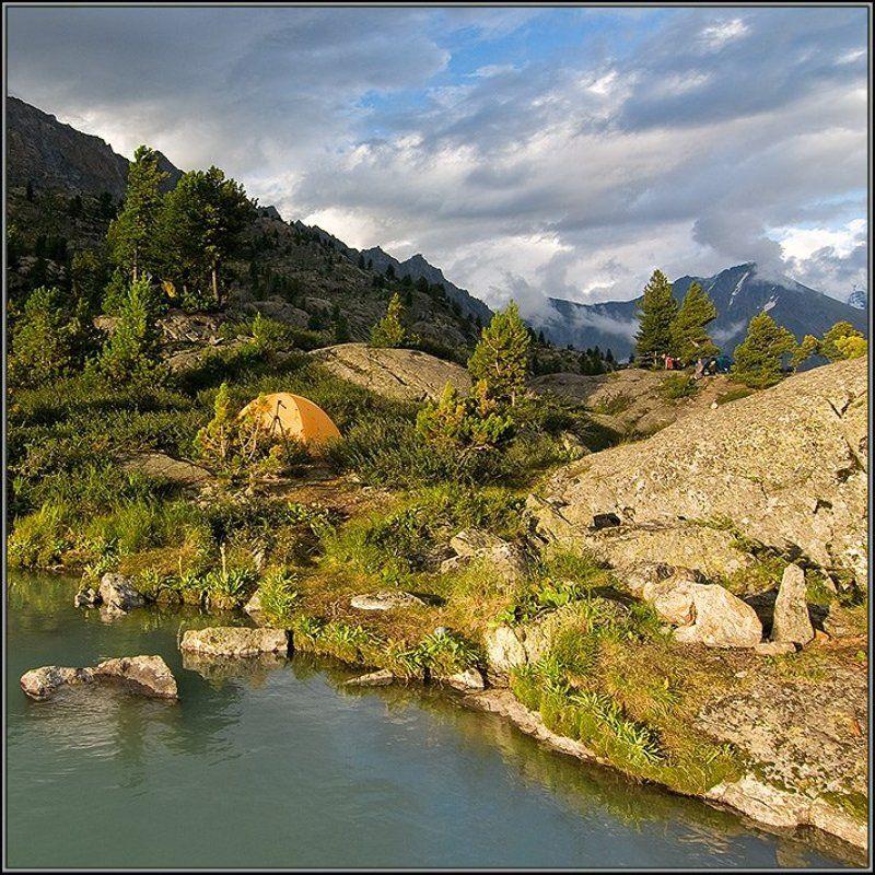 алтай, дарашколь, палатки, гнездо, джазатор Пейзаж с гнёздамиphoto preview