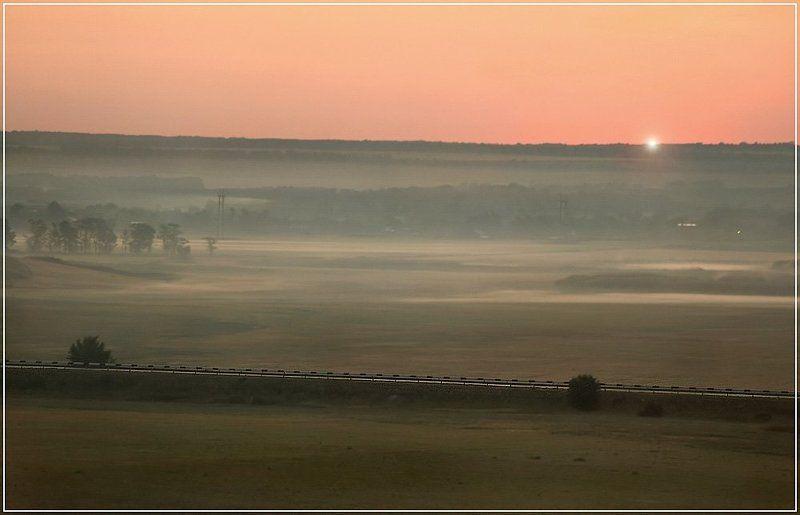 рассвет, природа, восход Первый лучикphoto preview