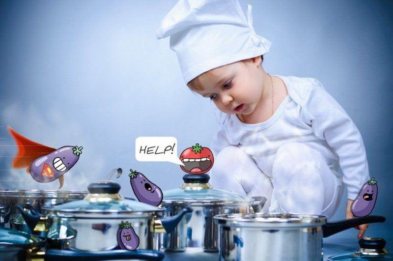 сюжет, юмор, поваренок, кастрюли, помидорчик, супер-кабачок, помогите, нуждаюсь в критике Сюжетphoto preview