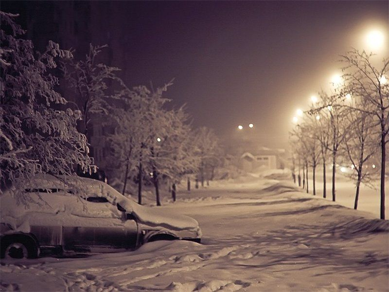 ночь, машина, снег Другой Питерphoto preview