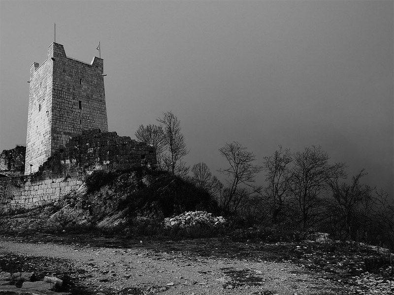 абхазия, анакопийская крепость,иверская,гора,туман Анакопия.photo preview