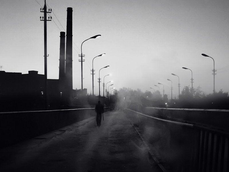 город, фонари Немного городаphoto preview