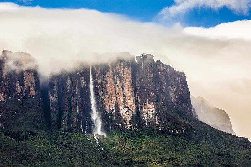 путешествия,природа,венесуэла,водопад,горы,тепуи,столовая гора,кукенан photo preview