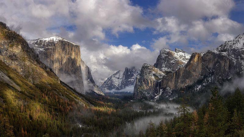 Yosemite, Tunnel View После зимнего шторма...photo preview
