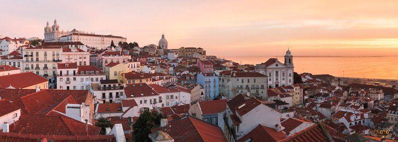 Лиссабон, Португалия, рассвет, утро, панорама Рассвет в Лиссабонеphoto preview